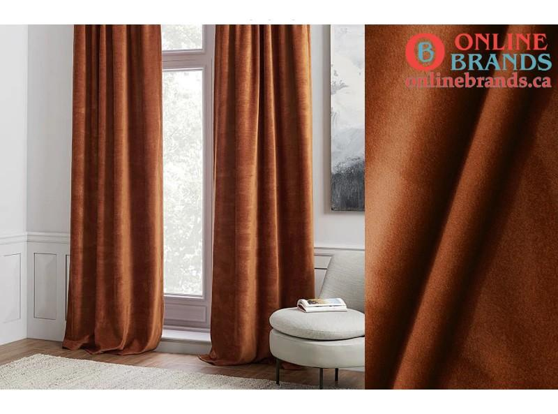 High Shading Velvet condensed Curtain For Bedroom and Living Room | Canada style curtains | Free shipping