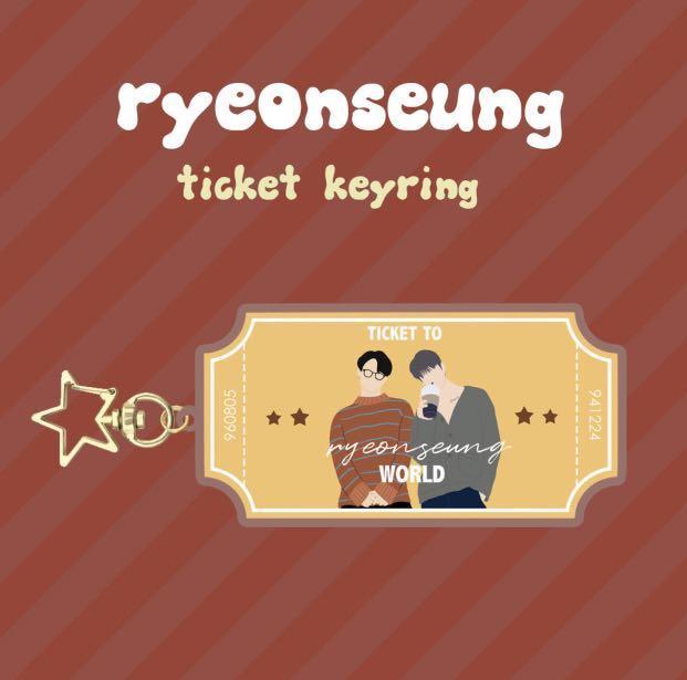 X1 Ryeonseung Seungyoun Seungwoo Ticket Keyring