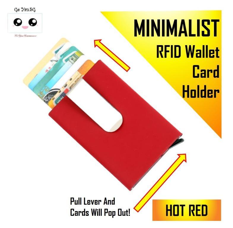 Holder Pu Leather Coin Pocket Money Clip RFID Blocking Anti-chief Slim Wallet