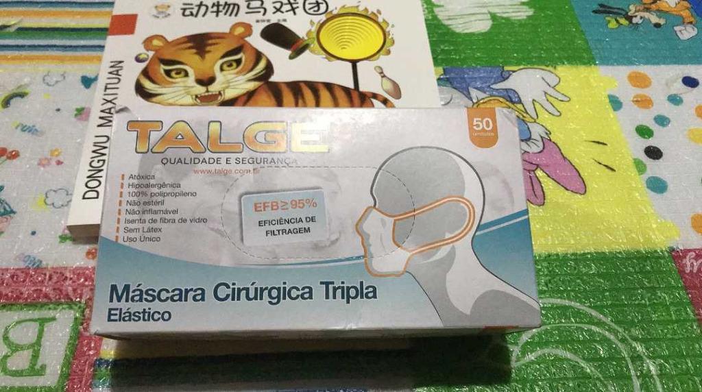 100pcs Talge 3-ply disposable earloop medical mask