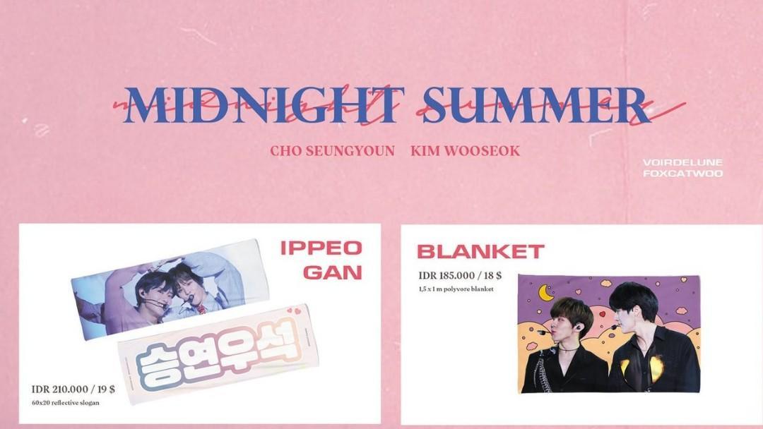 WTB  (Help RT)   Midnight Summer CSY X KWS Exhibition Ippeo Gan Slogan  Seungseok Blanket