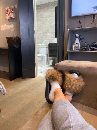 Real Fox fur slides 🦊