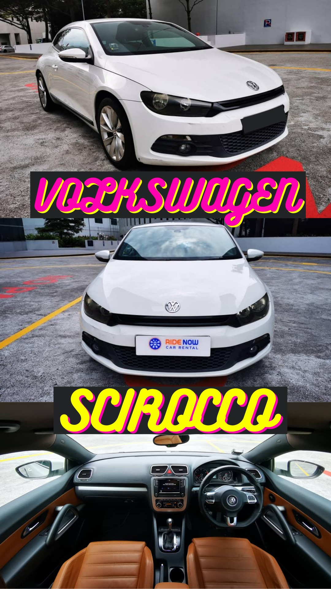 Volkswagen Scirocco 1.4A TSI Sporty Coupe that has the looks and speed. Perfect for dates. P plate welcomed!