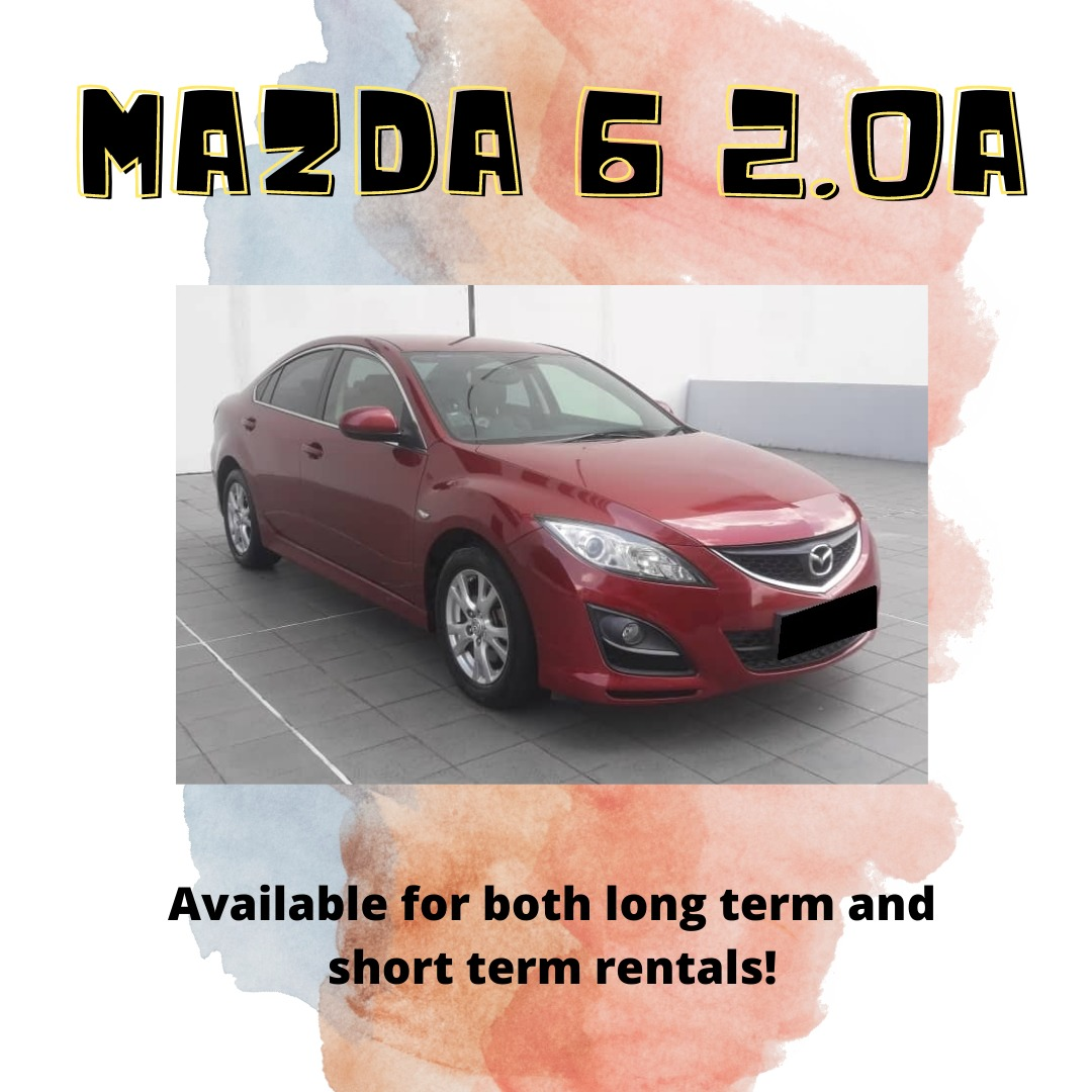 Striking Red Mazda 6 2.0A Smooth daily drive with sufficient passenger and boot space! Excellent Family Car!