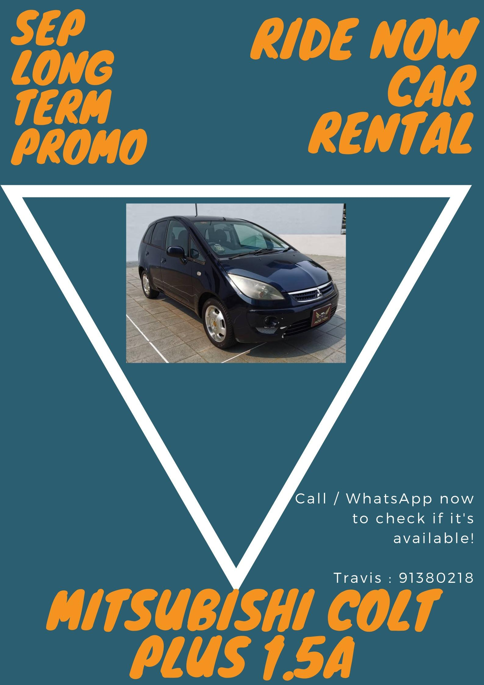 Mitsubishi Colt Plus 1.5A - Hatchback perfect for new Drivers! Compact Hatchback! Easy to operate and park! Perfect for beginners to drive to gain confidence! P plate welcomed!