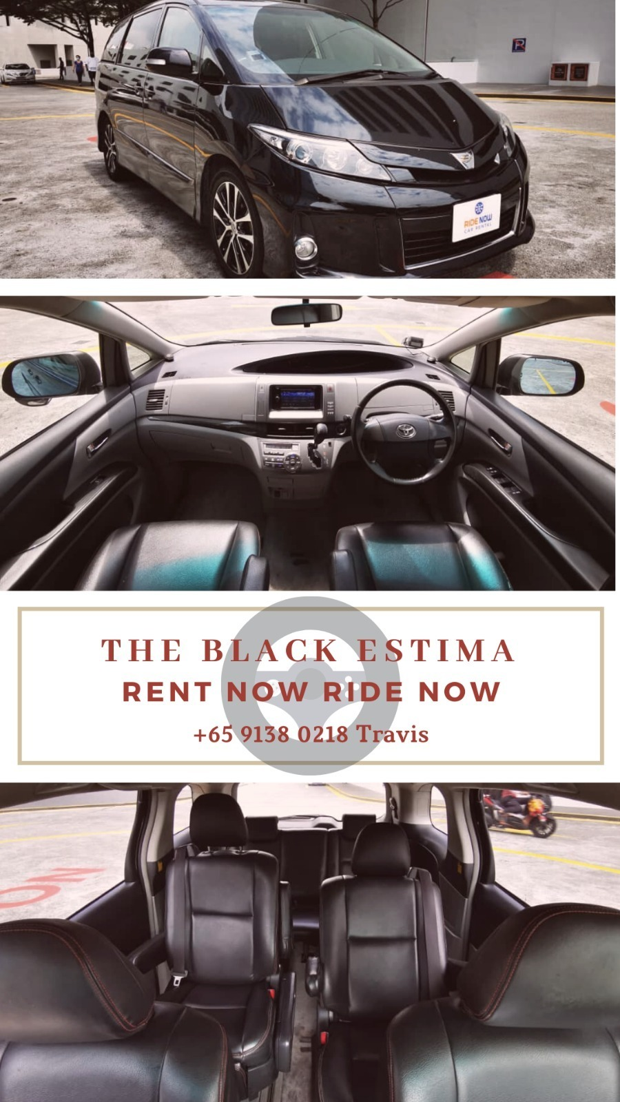 Toyota Estima 2.4A Black elegant MPV! Super luxurious and comfortable for all passengers! P Plate Welcome!