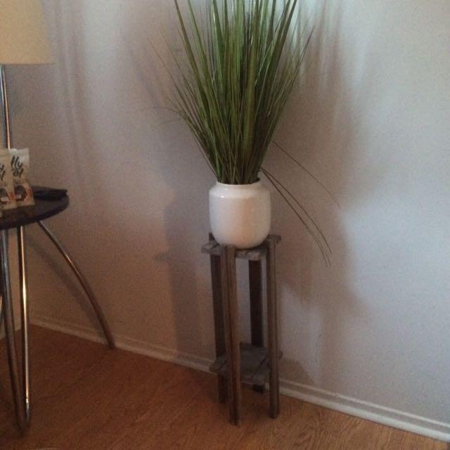 Gorgeous Unique Table And Fake Plant