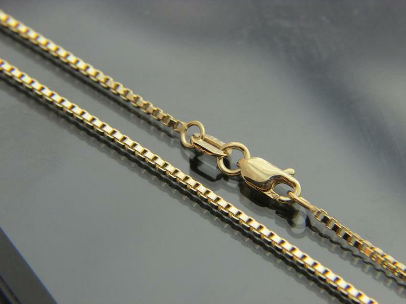 "10kt gold 23"" Boxchain (2mm)"