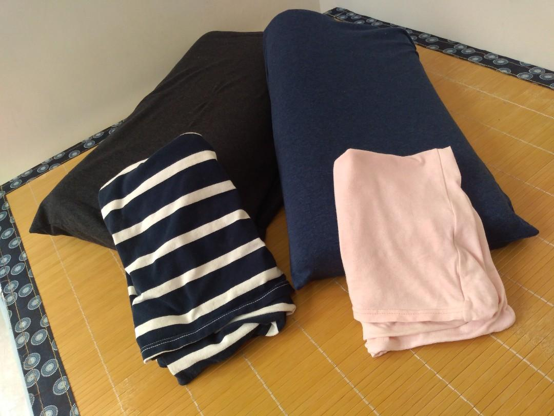 伸縮枕套(粉紅&條文)