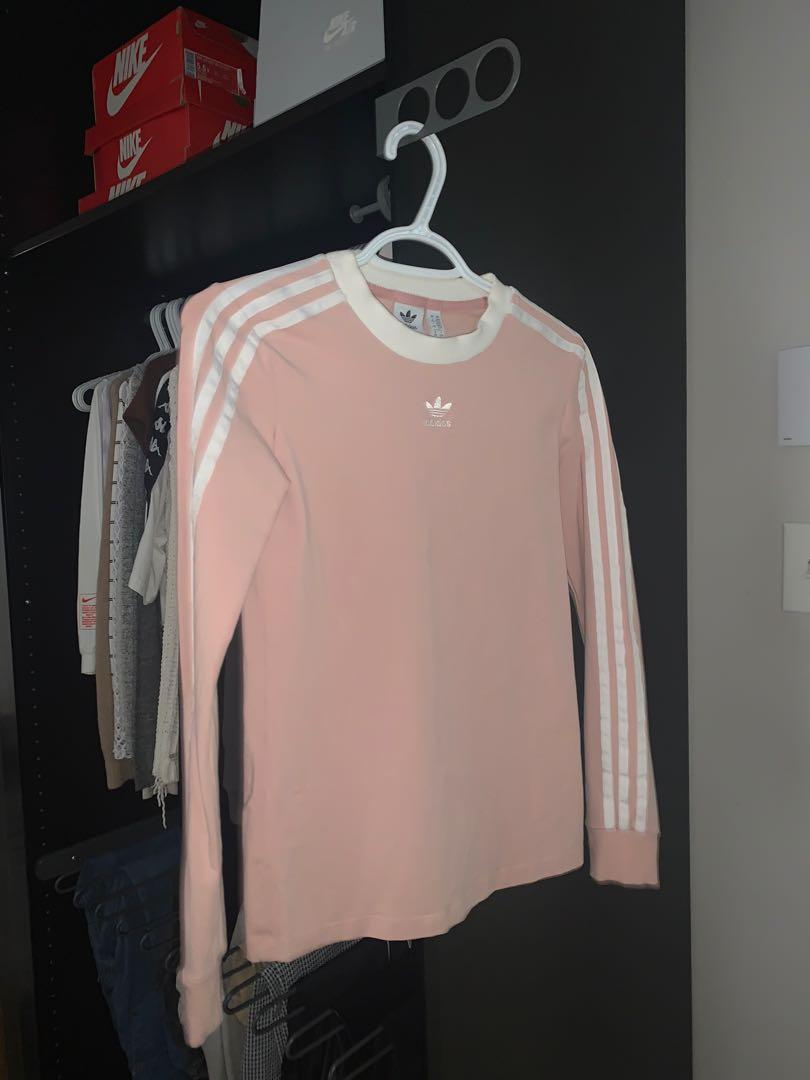 adidas pink long sleeve top