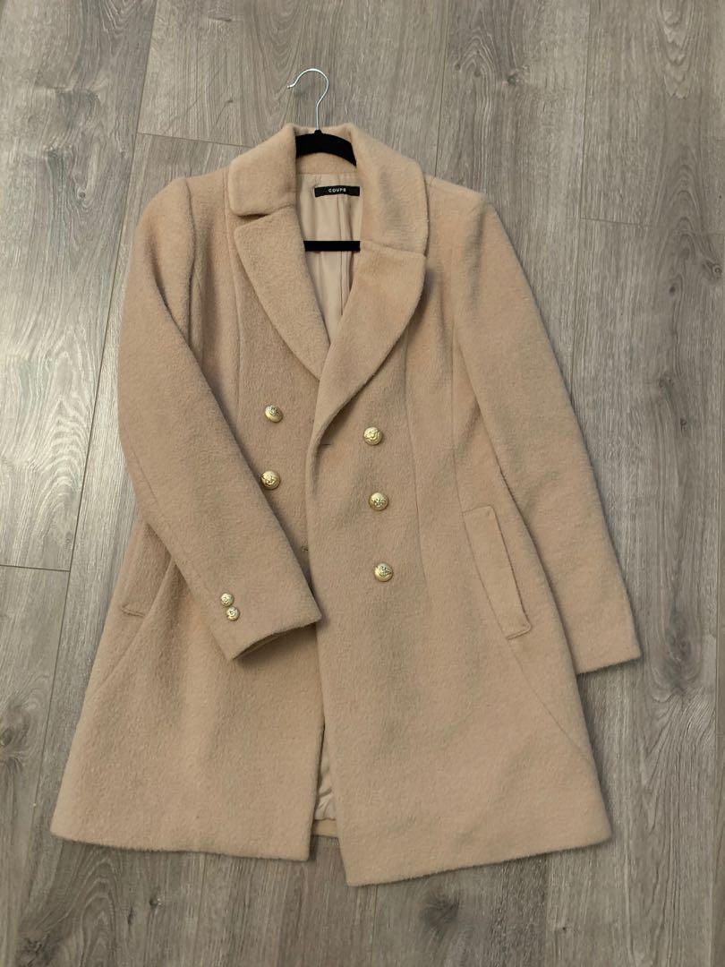 Beige wool coat from korea