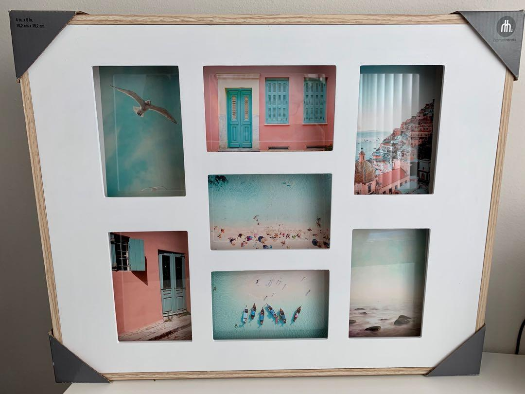 Brand new hometrends 7 photo open collage frame