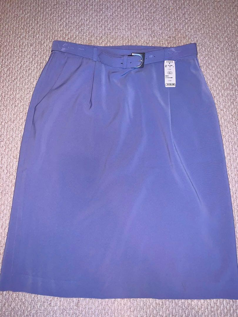 Brand new women's violet knee high skirt sz 16
