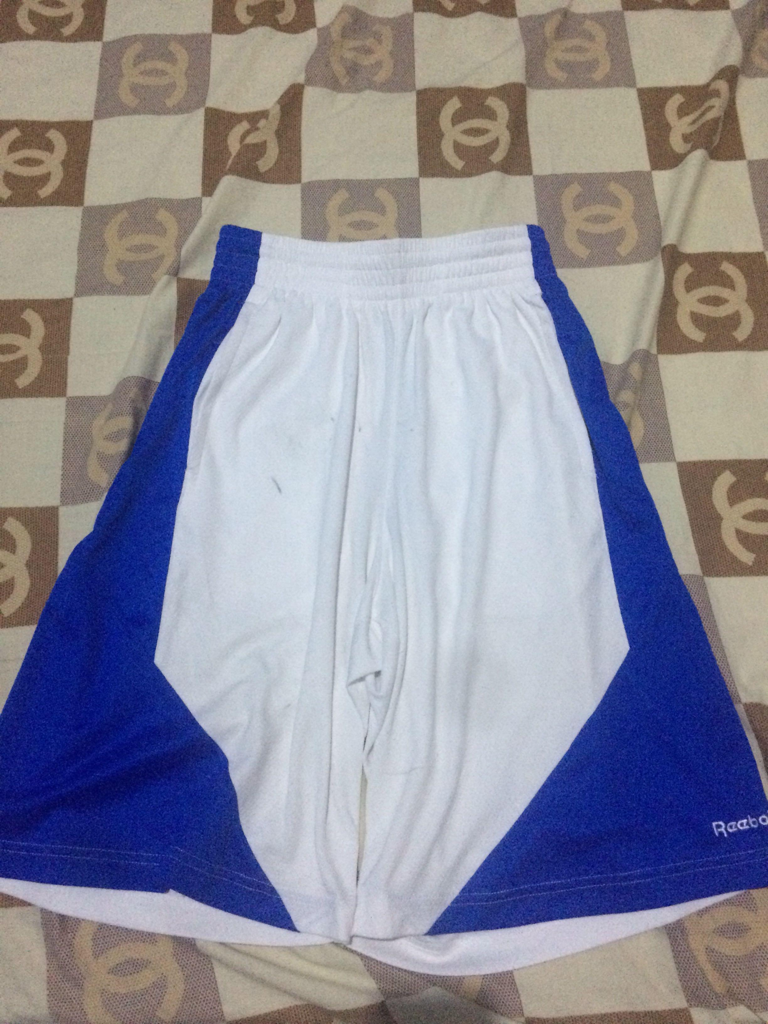 Celana Basket Reebok White Blue