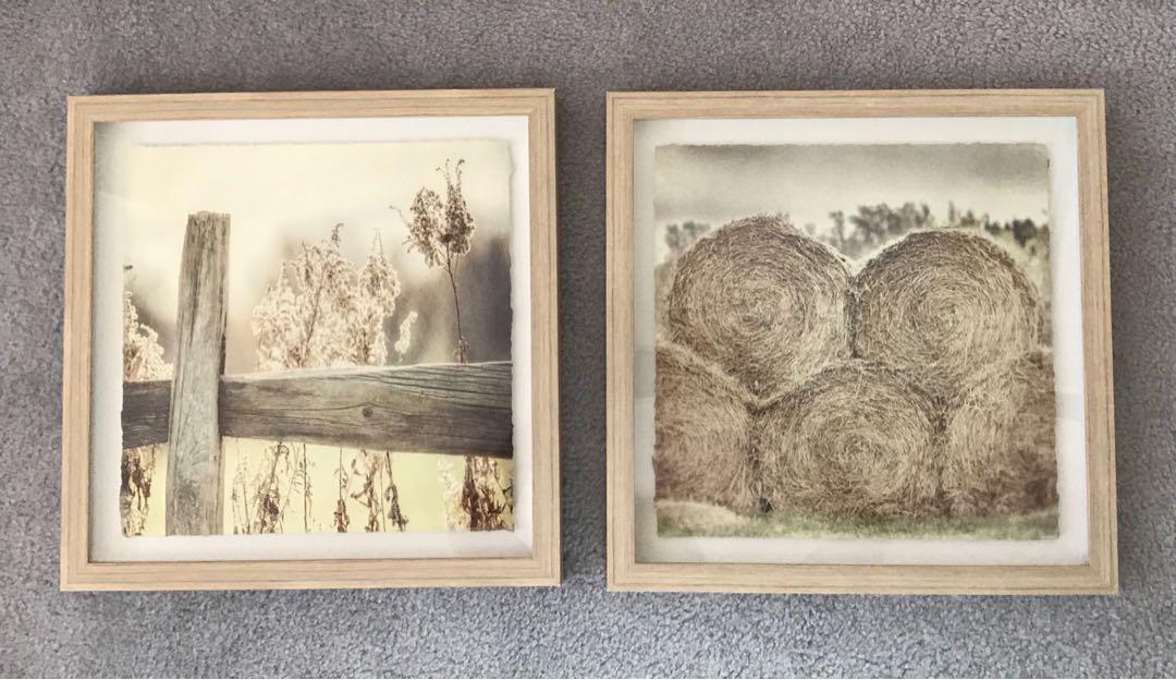 EUC framed prints / picture (set of 2)