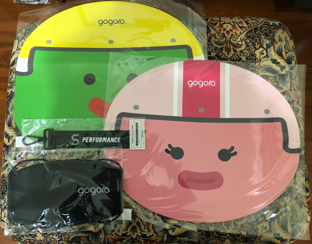 gogoro 餐墊+口罩+飄帶