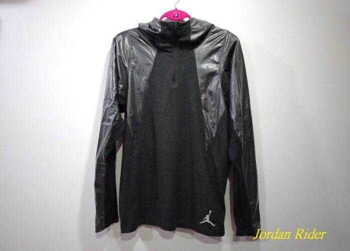 Jordan Rider 喬丹騎士 NIKE Air Jordan Training Stay Warm Hoodie 健身 訓練 保暖款 灰銀 黑色 半開襟 帽T