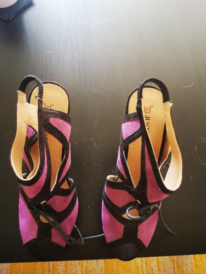 JustFab Purple and Black Heels