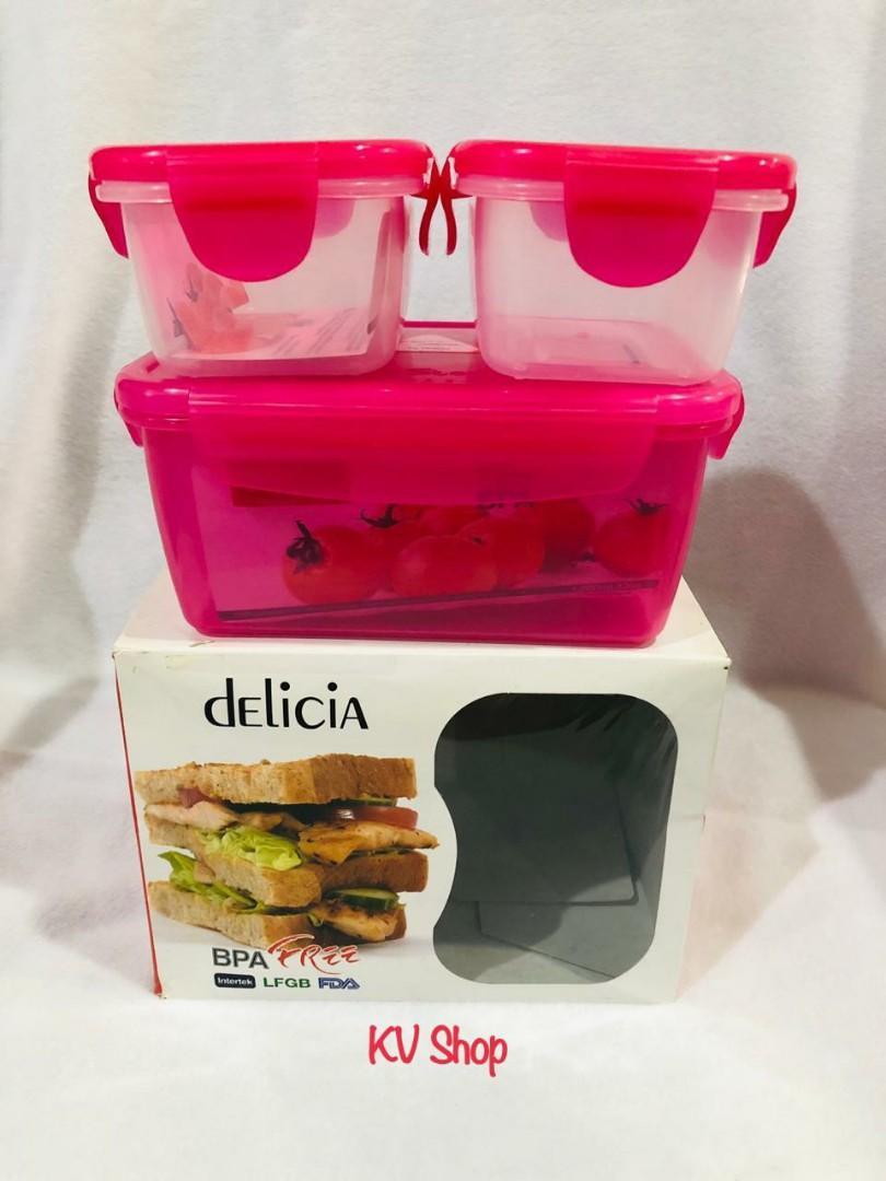 Kotak Makan Delicia isi 3 pcs