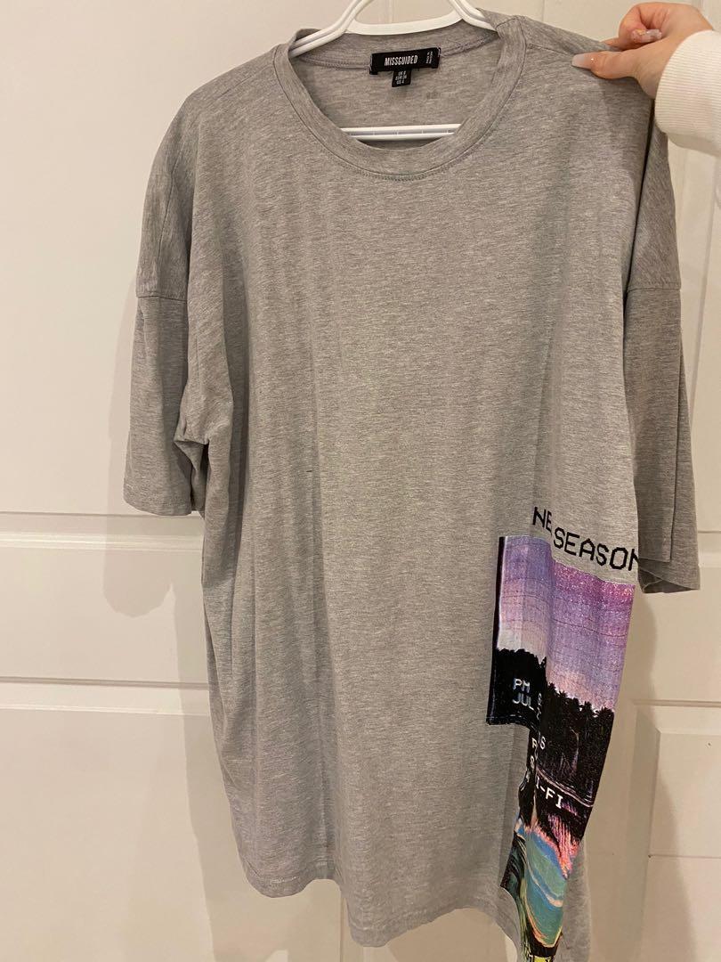 MissGuided Oversized T-Shirt Dress
