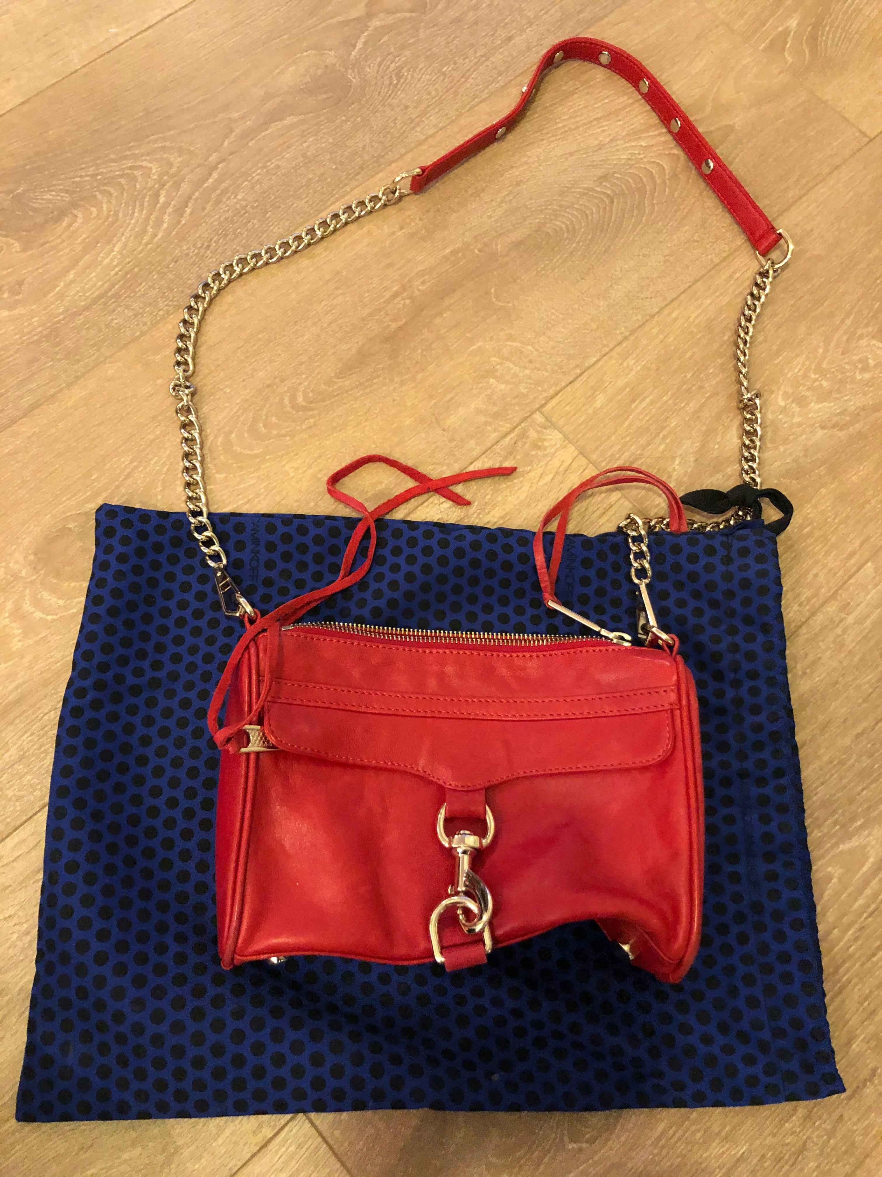 Rebecca minkoff mini Mac red with gold hardware