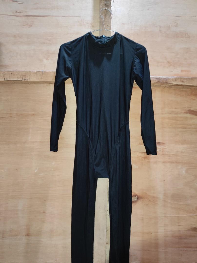 Swimsuit baju renang senam spandex lycra model Realise hitam