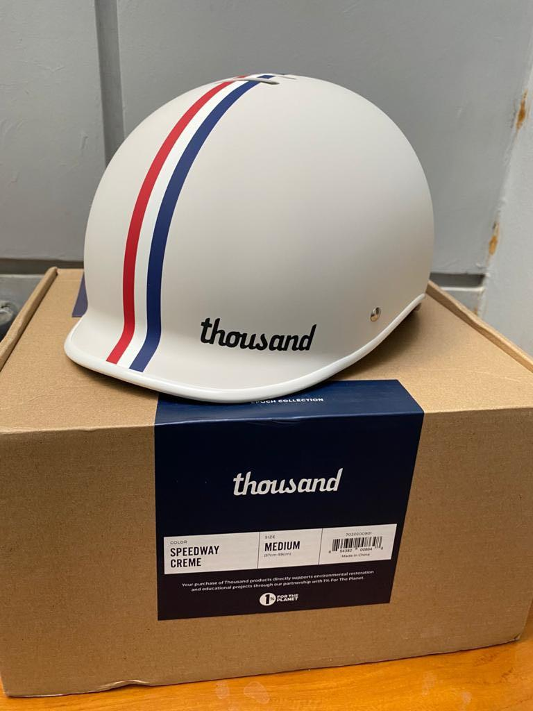 Thousand helmets rose gold and speedway creme