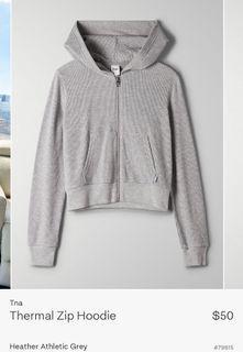 Aritzia TNA thermal zip hoodie