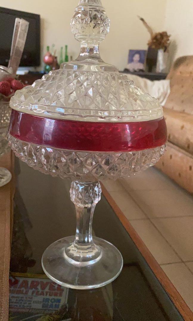 Toples kristal pita merah jadul lawas