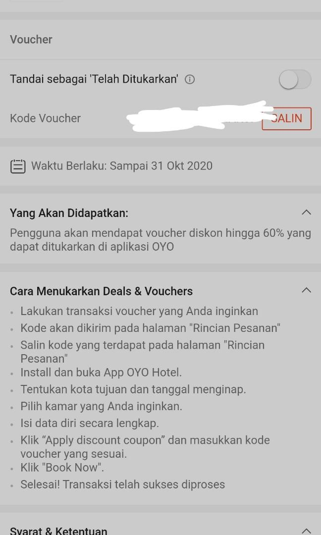 voucher oyo hotel up to 60%