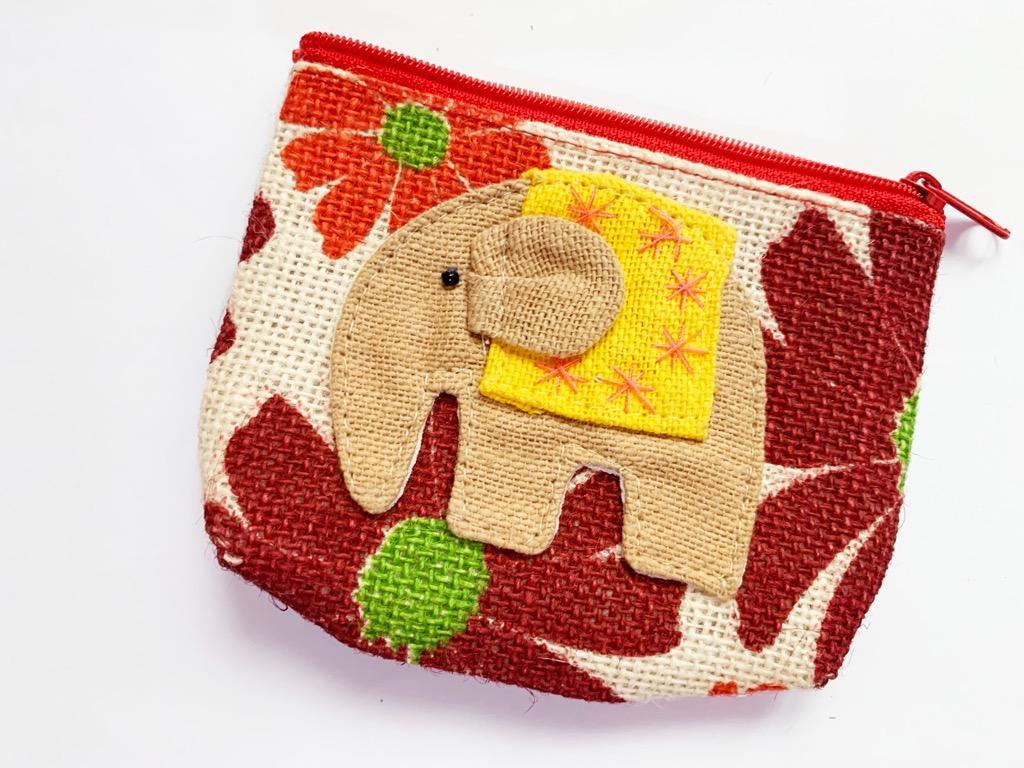 大象編織零錢包#1010