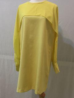 鮮黃色迷你洋裝