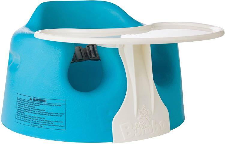 bumbo floor seat with tray - 90% new