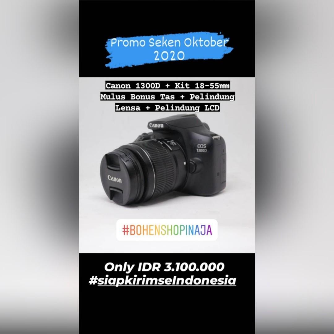 Canon EOS 1300D Mulus Banyak Bonus