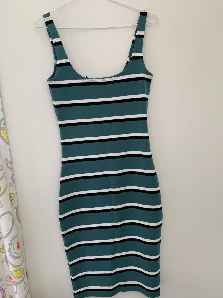 Cotton On: Striped fitted Dress