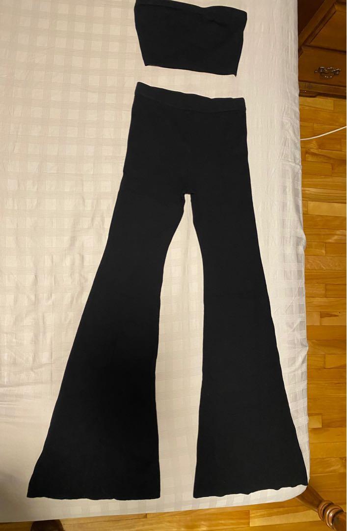 Fashion Nova ribbed black set