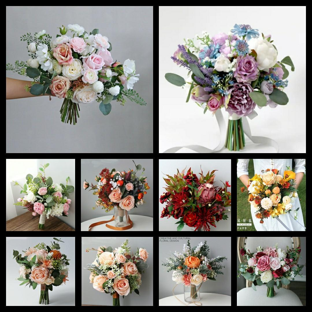 For Rental Pre Wedding Shot Bouquet Pws Faux Flower Bouquet Wedding Bouquet Rom Bouquet Photoshoot Flowers Gardening Flowers Bouquets On Carousell