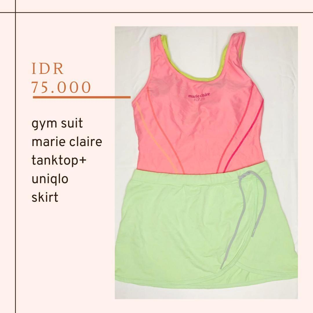 Gym suit and sport skirt Uniqlo