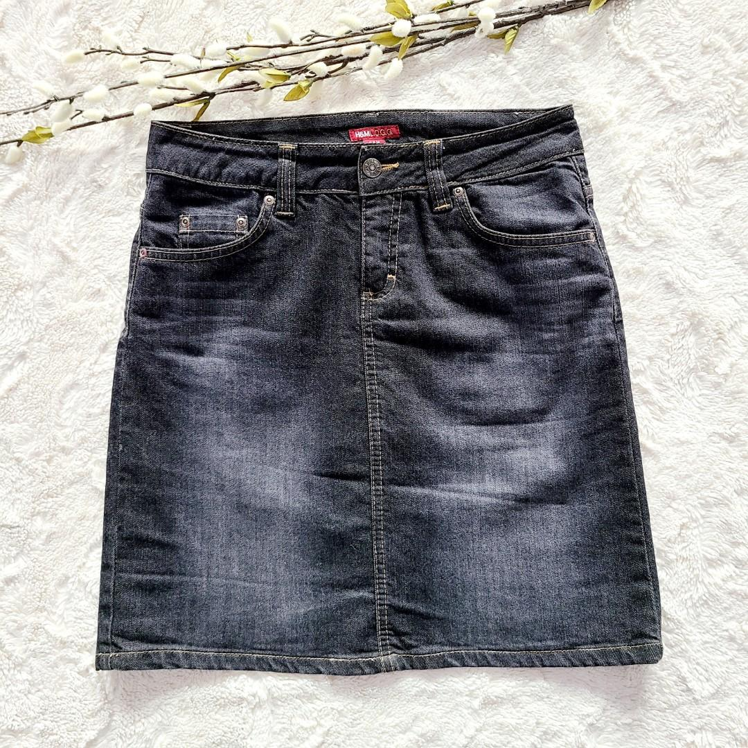 H&M Dark Blue Jean Denim Skirt
