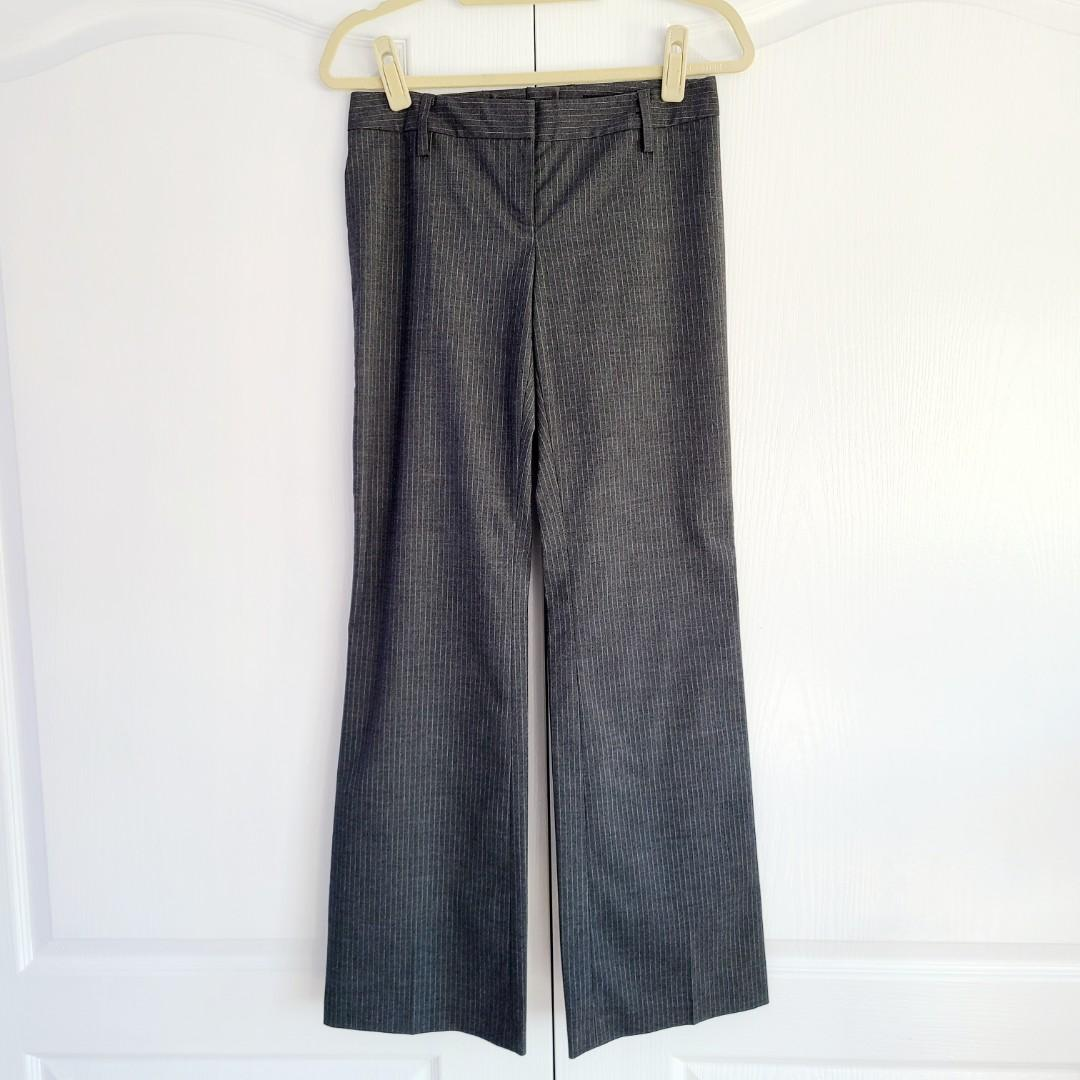 H&M Fitted Boot Cut / Flare Dress Pinstripe Work Pants