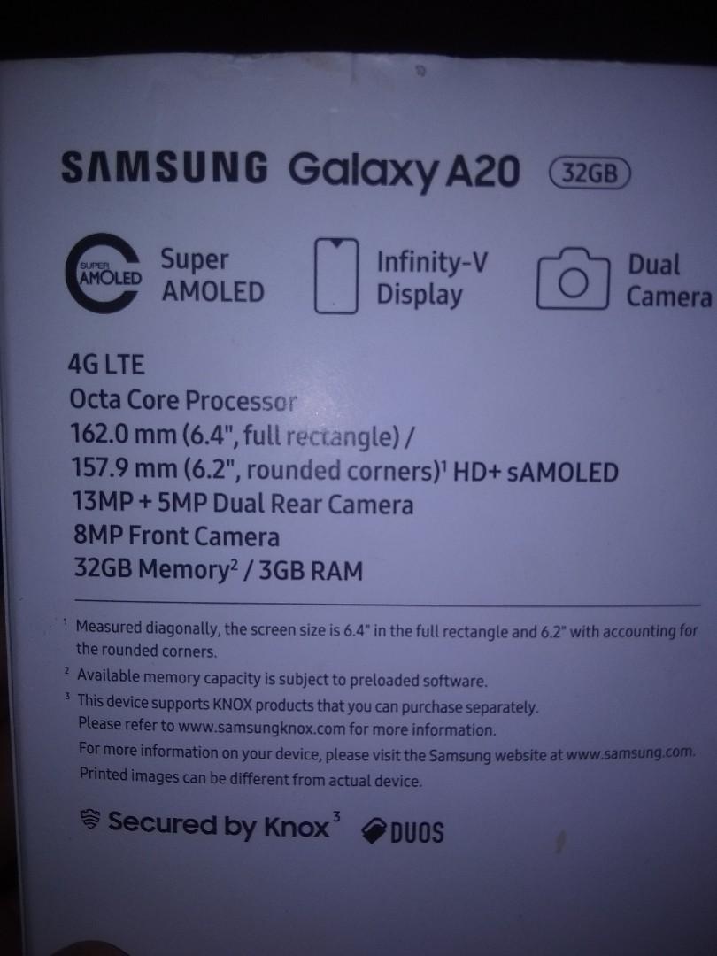 Hp Samsung A20 second