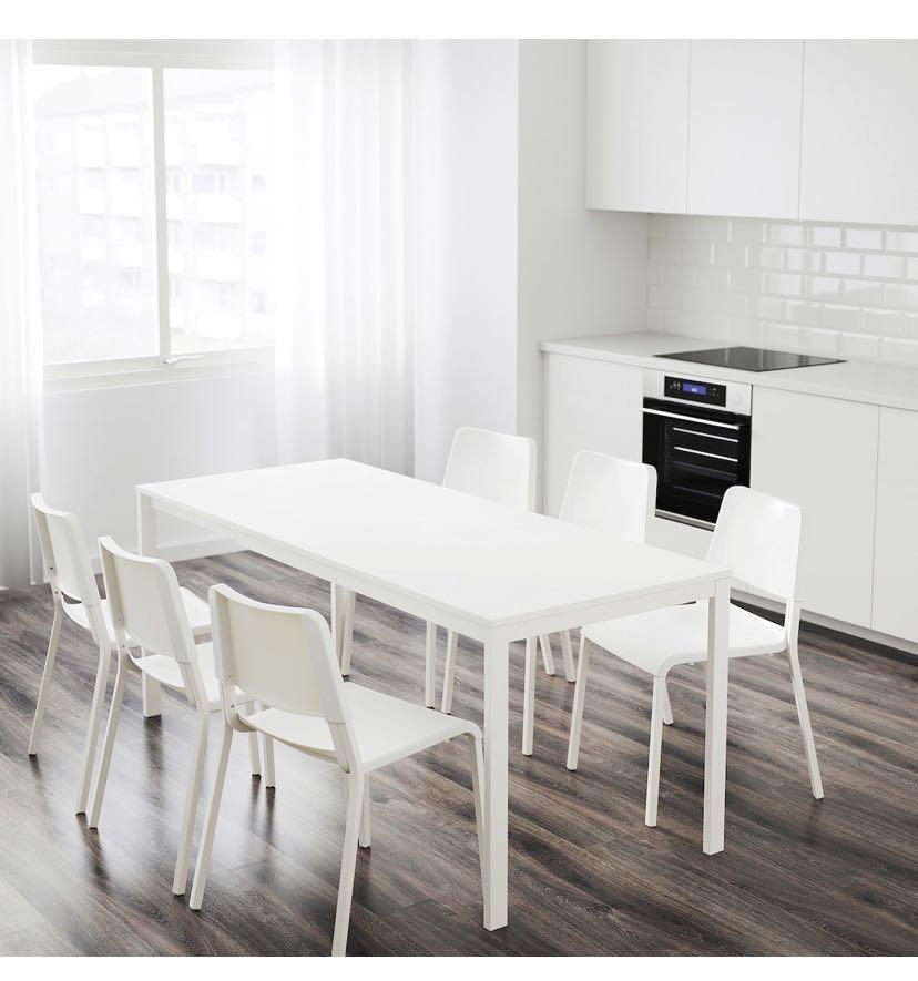 IKEA VANGSTA extendable dining table