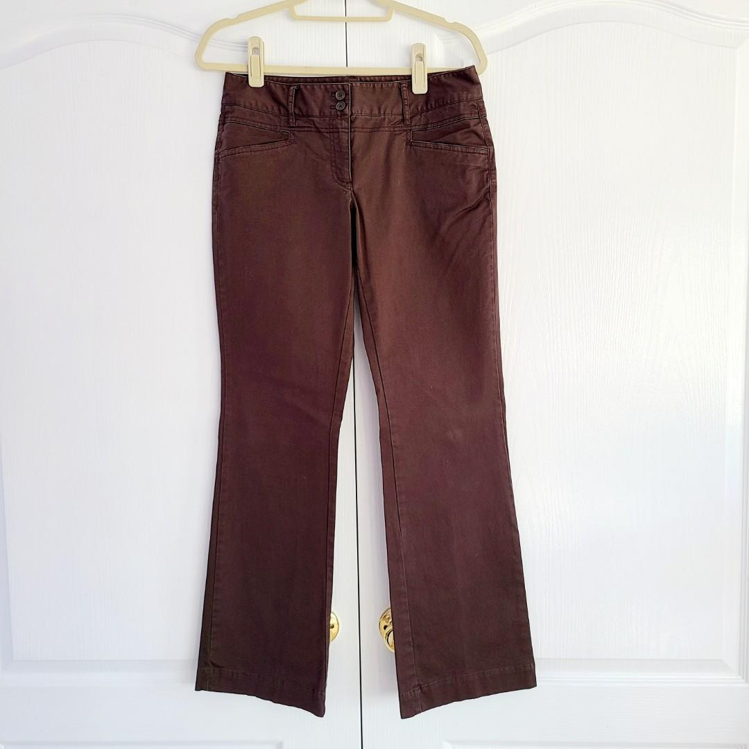 Jacob Fitted Boot Cut Chocolate Brown Pants