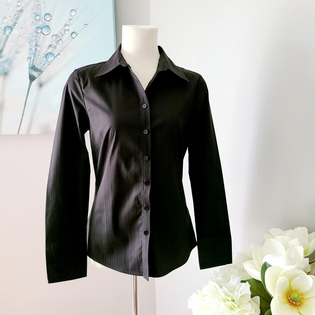 Jacob Women's Black Fitted Button Down Shirt