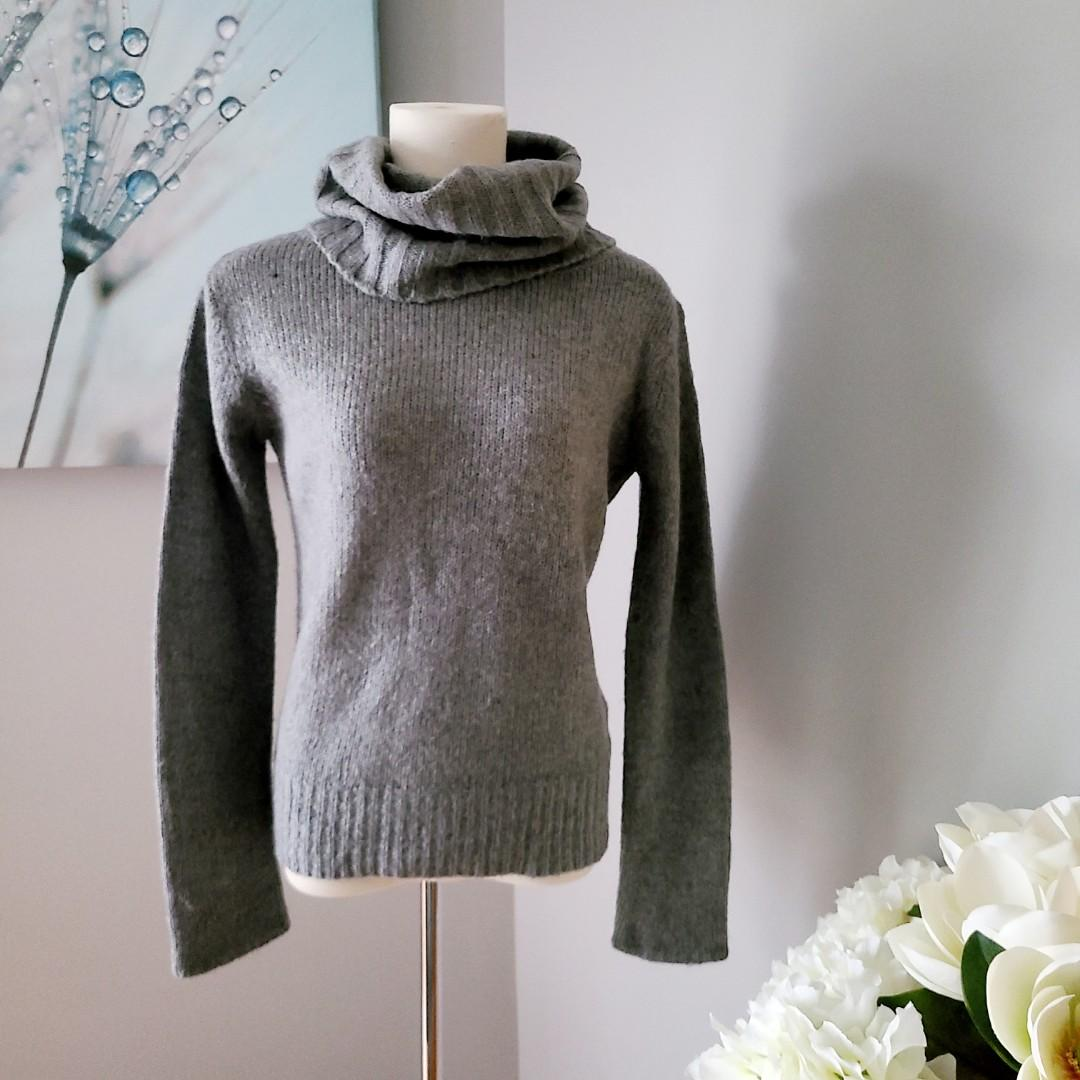 Jacob Wool Blend Wide Neck Turtleneck Sweater