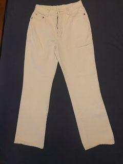 JianLong Jeans wide leg light beige