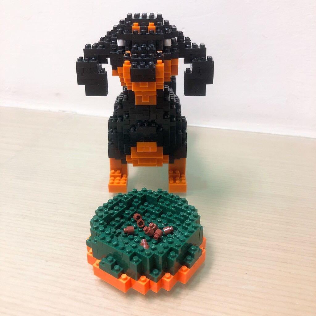 LEGO鑽石積木迷你積木小顆粒微型樂高創意拼插 — 臘腸狗Dachshund