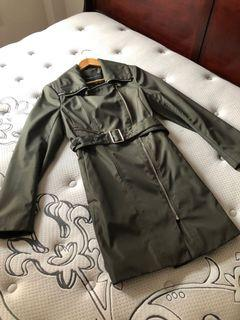 Marc New York olive green trench coat, size M