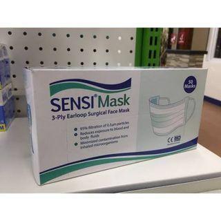 MASKER SENSI EARLOOP 3 PLY ISI 50 PCS