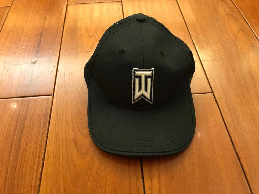 Nike 帽子 Golf Tiger Woods Classic 99 黑 高爾夫球帽 近全新